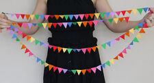 3m MINI Feltro Bunting. Rainbow PARTY GHIRLANDA, Baby Shower. Rainbow Party Decorazione.