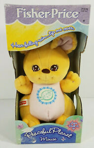 NIP Vintage Fisher Price peaceful planet Mouse rainstick soothing plush toy 1998