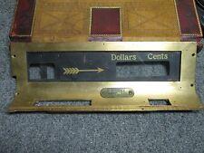 Antique National Cash Register part glass window w. brass bracket