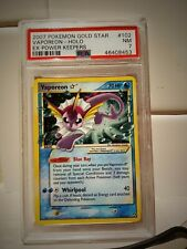 GOLD STAR VAPOREON HOLO RARE EX POWER KEEPERS SET COLLECTION 102/108 NM PSA 7