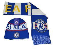 Chelsea FC Beanie Rerversible and Scarf Reversible Winter Cap Hat  New Season