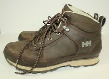 Mens HELLY HANSEN brown leather Hiking Boots Size 8.5 US EU 42 EXCELLENT D6