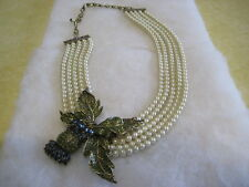 "HEIDI DAUS ""Thistle Twit"" 17-1/2"" L. 5-Row Beaded Necklace (Orig.$259.95)"
