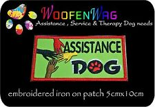 NEW assistance dog patch K9 Embroidered iron on