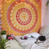 Wall Mandala Tapestry Hanging Indian Hippie Decor Bohemian Gold Bedspread Throw