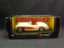 Burago 1:24 1957 Chevrolet Corvette Classic American Muscle Sports car