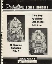 catalogo MAX GRAY Perfection Scale Models O Gauge catalog 4 1965 Brass   E    dd