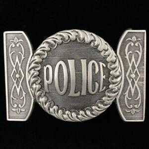 Antique Police Officer Uniform Repr Laurel Wreath Gift 90s Nos Vtg Belt Buckle