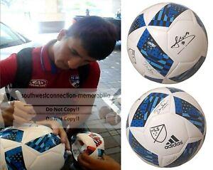 Mauro Diaz FC Dallas Toros Signed MLS Soccer Ball Exact Proof Photo of Autograph