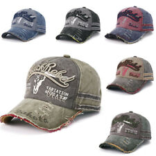 Men Women Vintage Hats Graffiti Trucker Hat Washed Denim Distressed Basebal