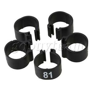 100pcs Black Plastic 9.5mm Chicken Pigeon Leg Band Poultry Bird Numbered Rings