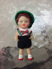"""Antique Vtg Ari German 3"""" Rubber Girl Doll With Clothes Dolls"""