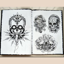 76 Pages Selected Skull Design Sketch Flash Book Tattoo Art Supplies F9P