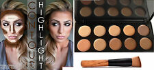 10 Colors contour & Concealer Face Makeup Palette Cream Nature with Brush set