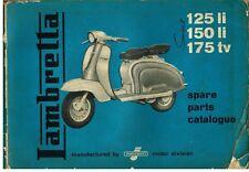LAMBRETTA 125Li 150Li 175TV SERIES 2 SCOOTER ORIG. 1960 FACTORY PARTS CATALOGUE