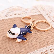 Ring Key Chain Handbag Charm Gift Creative Fashion Rhinestone Metal Airplane Key