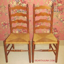 Tell City Ladderback Pair of Side Chairs Andover Maple Wood 2312