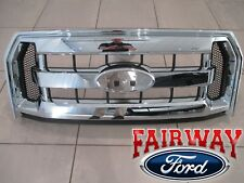 15 thru 17 F-150 OEM Genuine Ford Parts Chrome and Mesh Grille Grill w/o Camera