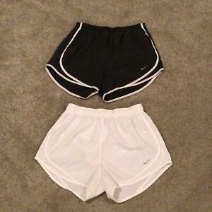 Nike Tempo Women's Lot of 2 Dri-Fit Performance Athletic Shorts Sz M White Gray