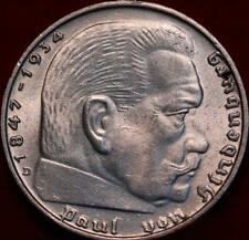 Uncirculated 1939 Germany 2 Mark Silver Foreign Coin