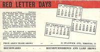 Vintage Ink Blotter Price Aiken Trade Shows Swanwick Ave Toronto Ontario Canada