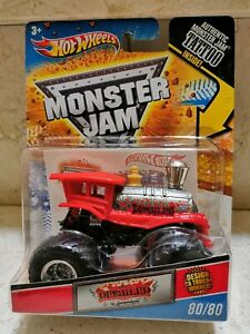 Hot Wheels MONSTER JAM DERAILED TREN Series TATTOO Único en Europa
