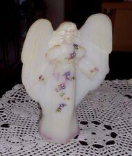 FENTON ART GLASS 100TH ANNIVERSARY OFFERING ANGEL OPAL SATIN