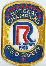 Roadway Express 1993 P & D safety National Champions  drivers patch 4X2-3/4 inch