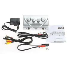 Karaoke Sound Echo Mixer +Cable N-1 for KTV TV PC Amp Amplifier Silver+Free Ship