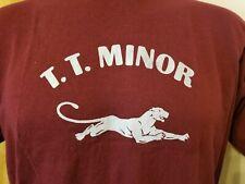 Vtg 80s Sportswear T.T. Minor Seattle t shirt M/L panther 50/50 school park