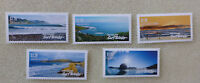 2017 NEW ZEALAND SURF BREAKS SET OF 5 MINT STAMPS