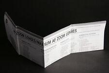Gebrauchsanleitung für Minolta AF Zoom Lenses/Maxxum AF Zoom xi Lenses; gebr.