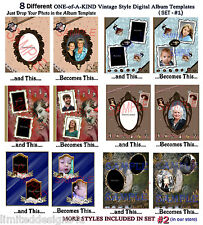 15 OoAk Digital Vintage Album Pages+Much More on Cd~Templates~Scrapbooking ~Photo