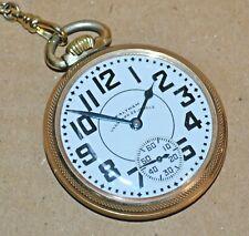 Jewel Vanguard Railroad Pocket Watch Vintage Waltham 16 Size 23