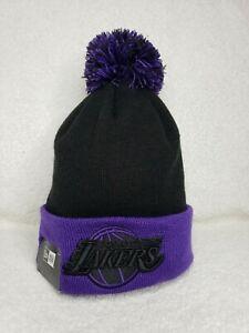 Los Angeles Lakers Beanie Knit New Era Black & Purple LeBron James LA NBA AD