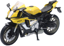 Yamaha 2016 YZF-R1 1:12 Sport Bike Motorcycle Yellow Toy Model by New Ray 57803b