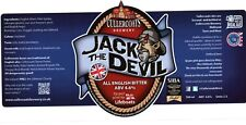 CULLERCOATS BREWERY NEW & UNUSED BEER LABEL  - JACK THE DEVIL BITTER