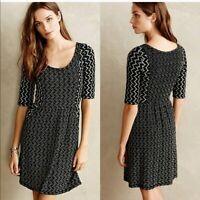 Saturday Sunday Anthropologie Black White Gray Knit Dress Size XS Scoop Neck