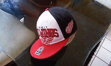 Detroit Red Wings NHL Snapback Hat Cap 47 Brand Slamma Jamma Black White Red