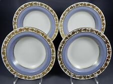 WEDGWOOD WHITEHALL POWDER GRAY W3979 ***SET OF 4 *** Rimmed Soup Plate (Bowl)