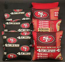 Cornhole Bean Bags w SAN FRANCISCO SF 49ERS Fabric ACA Regulation Tailgate Toss