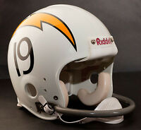 LANCE ALWORTH SAN DIEGO CHARGERS Riddell 1-Bar Football Helmet FACEMASK - GRAY
