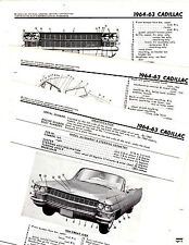 1963 1964 CADILLAC DEVILLE FLEETWOOD SEDAN COUPE BODY CRASH ILLUSTRATIONS MOR 3