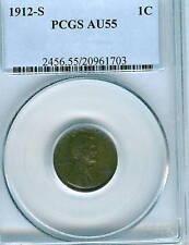 1912-S Lincoln Cent : PCGS AU55