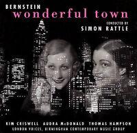 BERNSTEIN Wonderful Town CD Simon Rattle EMI Classics 1999 New FREE SHIP Sealed