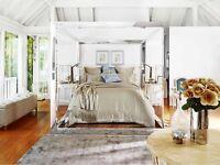 Sheridan  ELSWICK Birch Silk & Cotton Blend Queen Bed Quilt Cover RRP $699.9