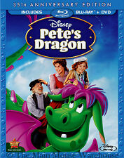 Classic Disney Live Action Animation Hybrid Pete's Dragon Blu-ray DVD Combo Pack