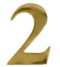 3'' Brass Door Numeral 2