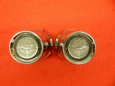2 USED 66 67 68 69 Ford Galaxie 500 XL Mustang GT Wheelcover Chrome Center caps