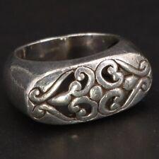 Statement Ring Size 6.5 - 11g Vtg Sterling Silver - Filigree Ornate Cutout